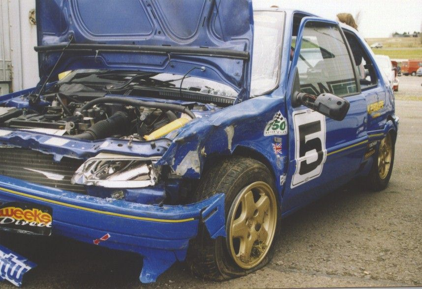Paul Sheehan destroyed my old 106 in a dramatic crash at Mallory Park.