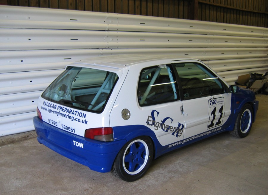 Stock Hatch Peugeot 106 XSi prepared by <a href='http://www.sgr-engineering.co.uk'>SGR Engineering Ltd</a>